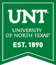 University of North Texas banner logo